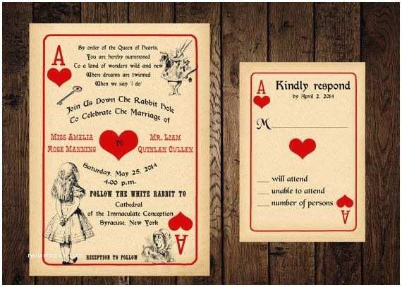 Alice In Wonderland Wedding Invitations 30 Best Images About Wedding Invitations Alice In
