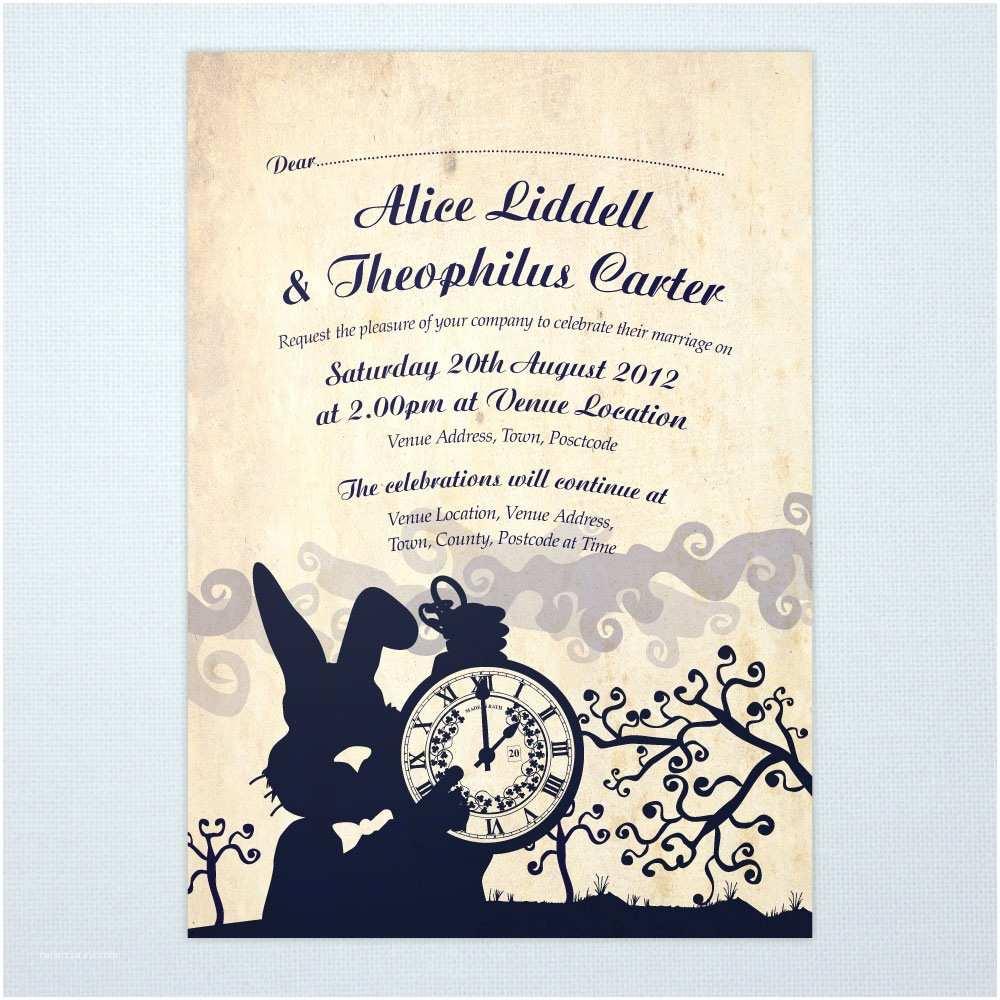 Alice In Wonderland Wedding Invitations Alice In Wonderland Wedding Invitations & Stationery