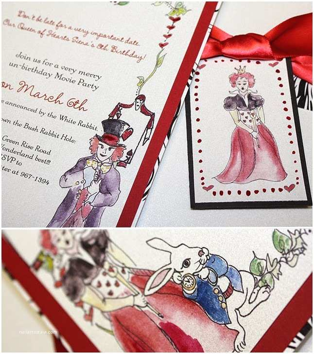 Alice In Wonderland Wedding Invitations Alice In Wonderland Wedding Invitations