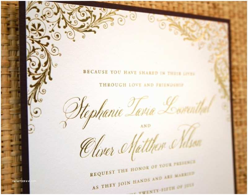 All In One Wedding Invitations 2017 Funny Gold Foil Wedding Invitations Ideas 2017 Get