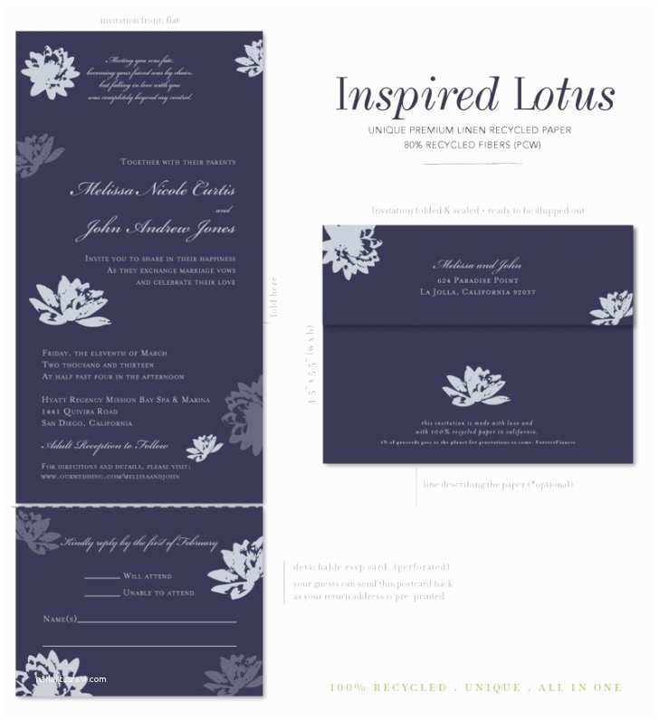 All In One Wedding Invitations All In E Wedding Invitations Make Your Wedding