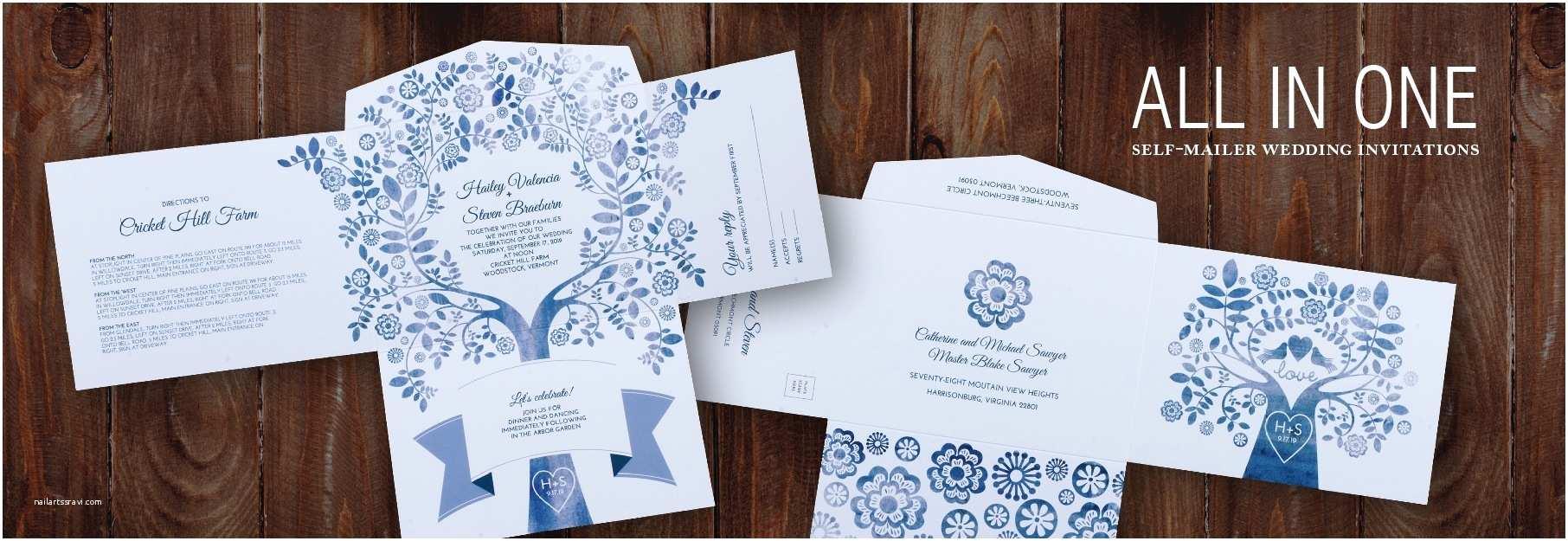 All In One Wedding Invitations All In E Wedding Invitations