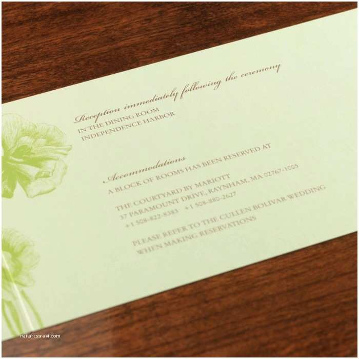 All In One Wedding Invitations Personalized Easthampton All In E Wedding Invitation