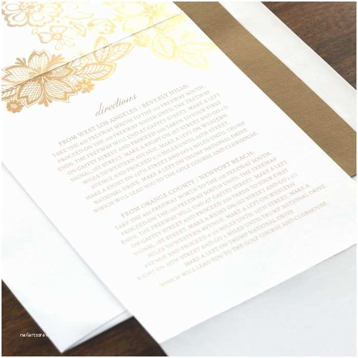 All In One Wedding Invitations Personalized Floral Glamour All In One Wedding Invitation