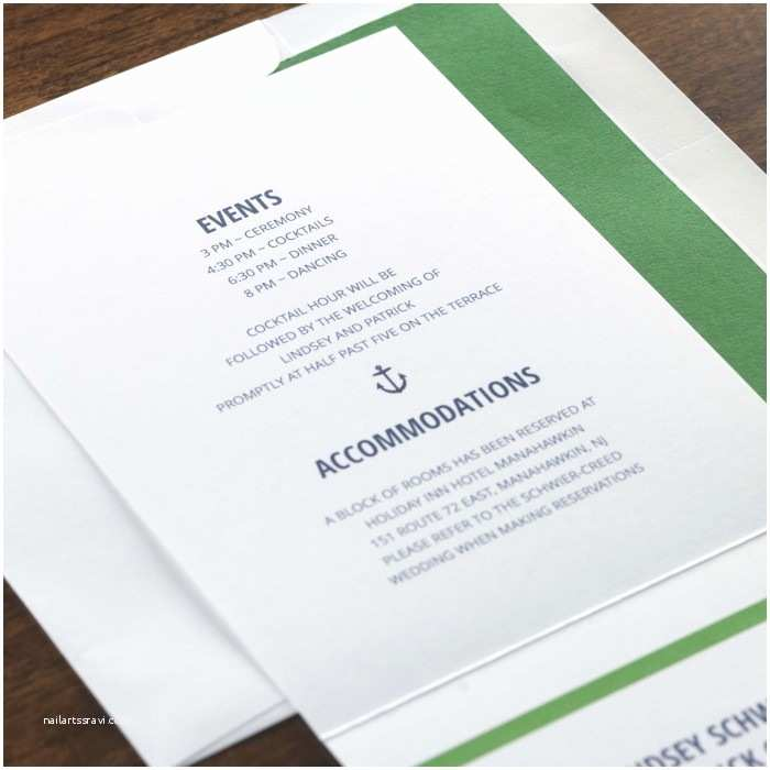 All In One Wedding Invitations Personalized Green Seas All In E Wedding Invitation