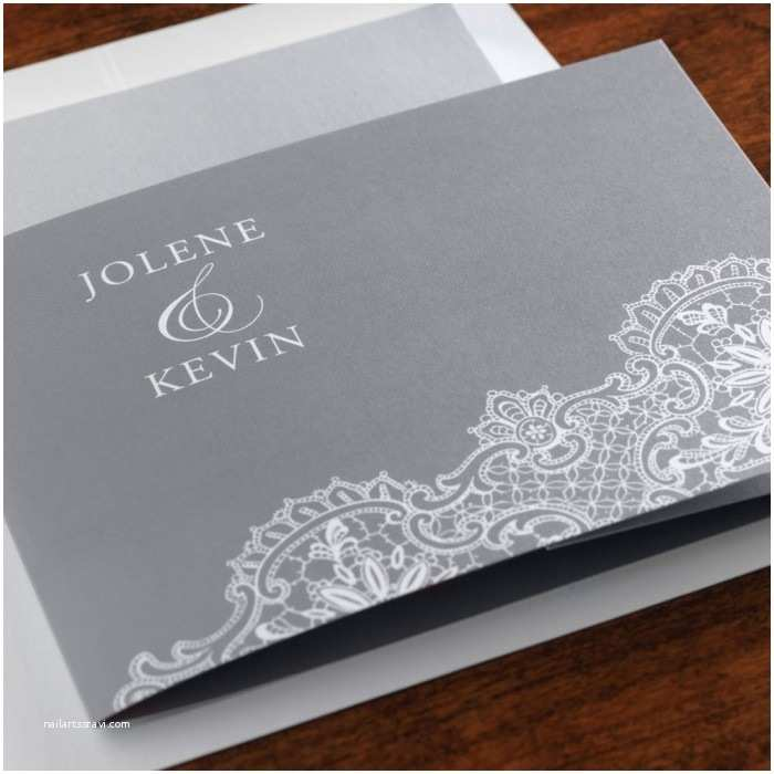 All In One Wedding Invitations Personalized Lace All In E Wedding Invitation