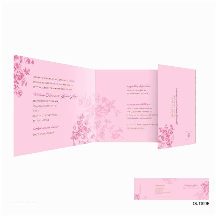 All In One Wedding Invitations Personalized Laurel All In E Wedding Invitation