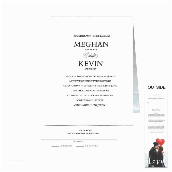 All In One Wedding Invitations Personalized Love All In One Wedding Invitation