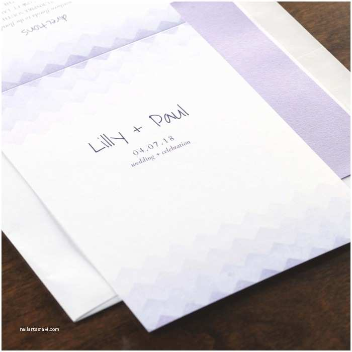 All In One Wedding Invitations Personalized Violet Dreams All In E Wedding Invitation