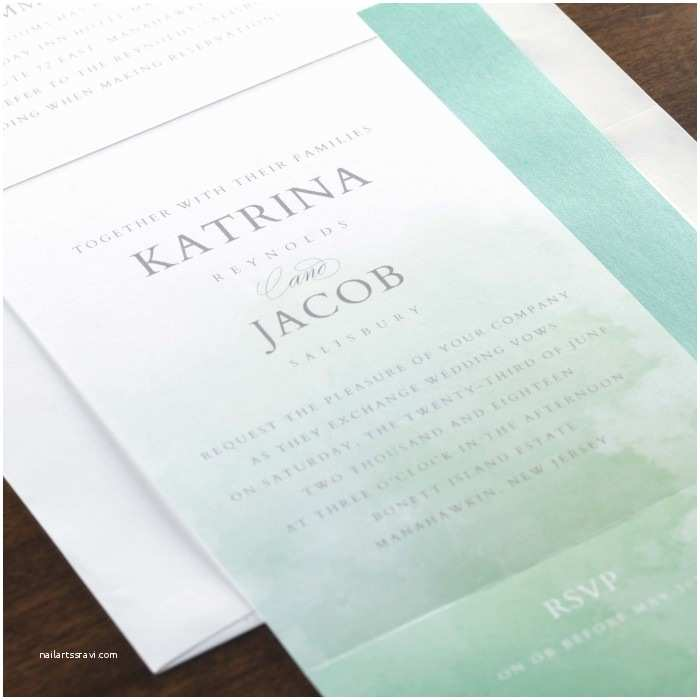 All In One Wedding Invitations Personalized Watercolor Romance All In One Wedding