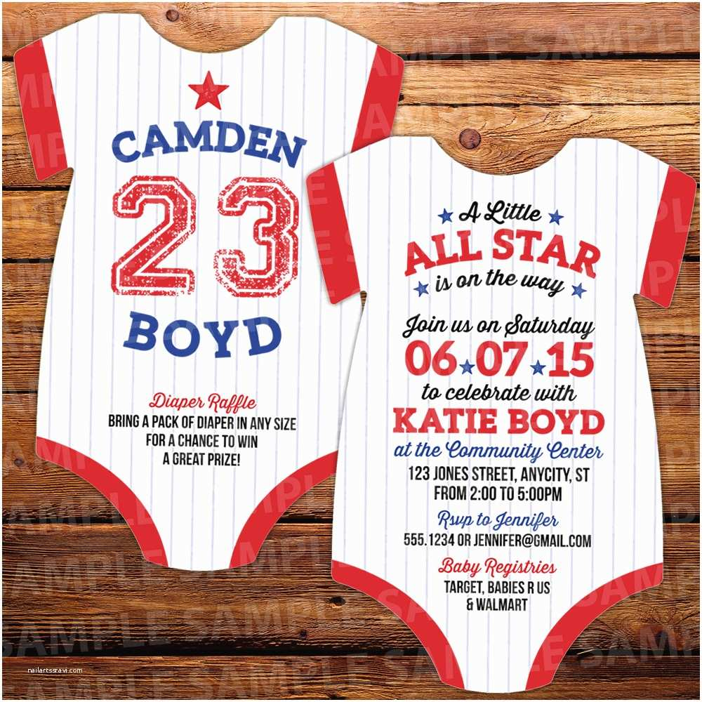 All Star Baby Shower Invitations 10 Baseball Invitations All Star Baby Shower
