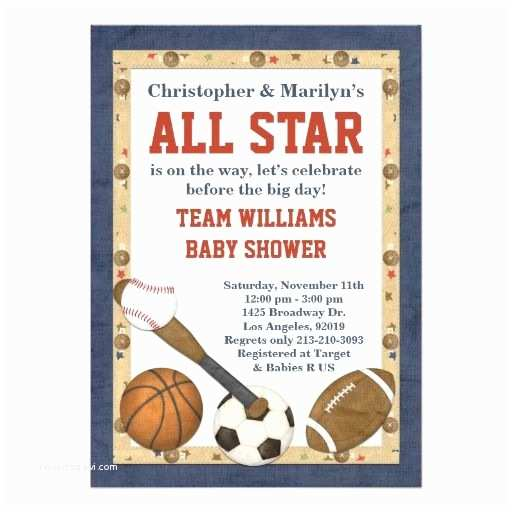 All Star Baby Shower Invitations 17 Best Images About Sports Baby Shower Invitations