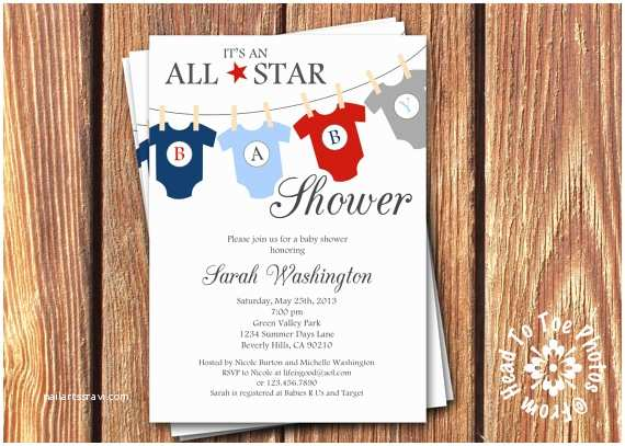 All Star Baby Shower Invitations All Star Baby Shower Invitations By