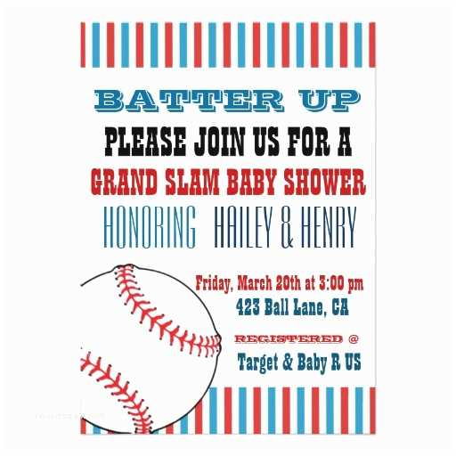 All Star Baby Shower Invitations All Star Baseball Baby Shower Invitations