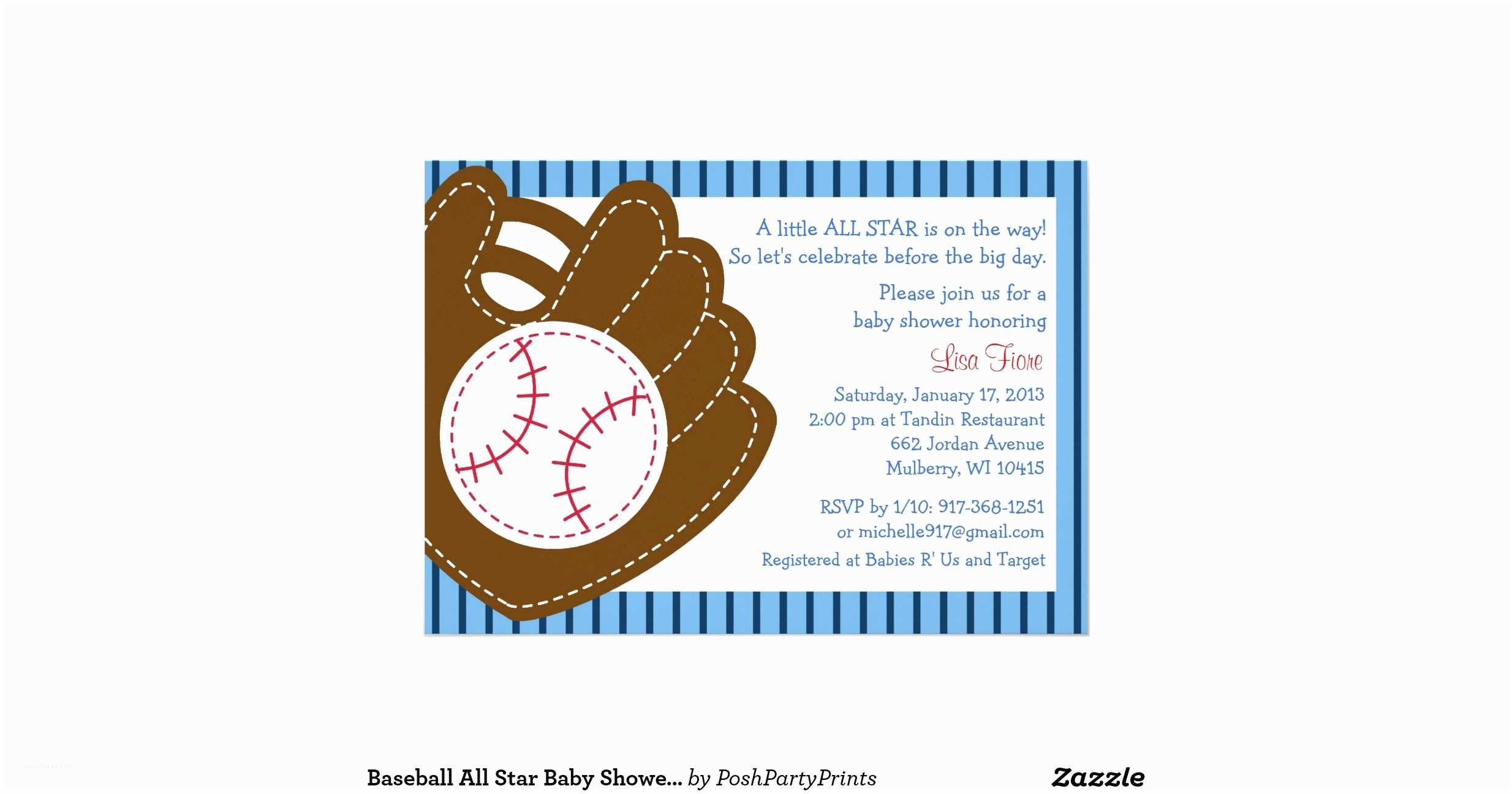 All Star Baby Shower  Baseball All Star Baby Shower