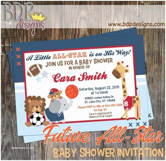 All Star Baby Shower S Future All Star Mvp Sports Jungle Baby Shower