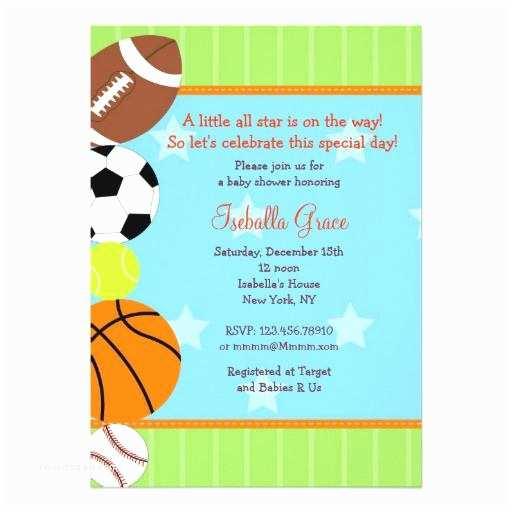 All Star Baby Shower Invitations Sports Baby Shower Invitations