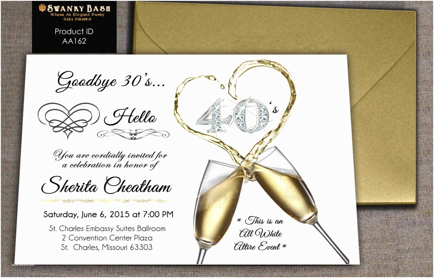 All White Party Invitations All White Party Birthday Party Custom Invitation Can Be
