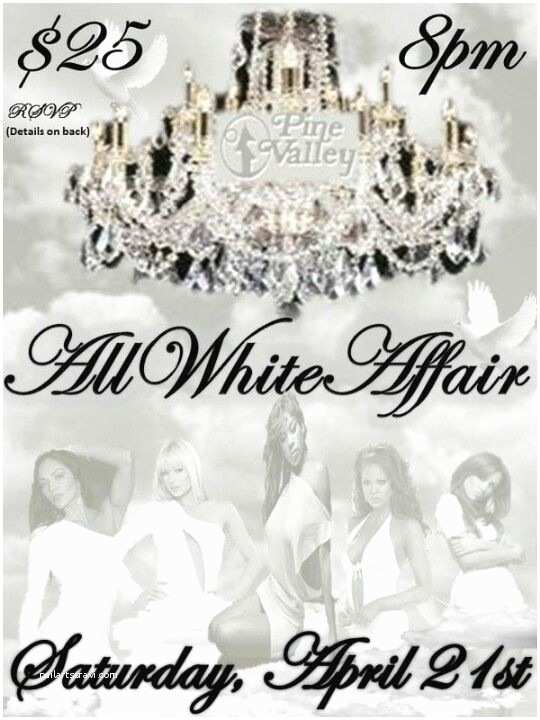 All White Party Invitations All White Party event Flyer