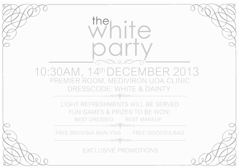 All White Party Invitations All White Party Invitations