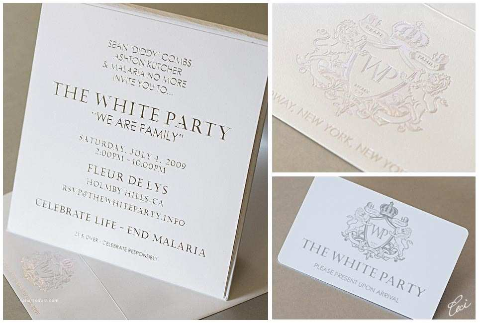 All White Party Invitations All White Party Wording to Pin On Pinterest