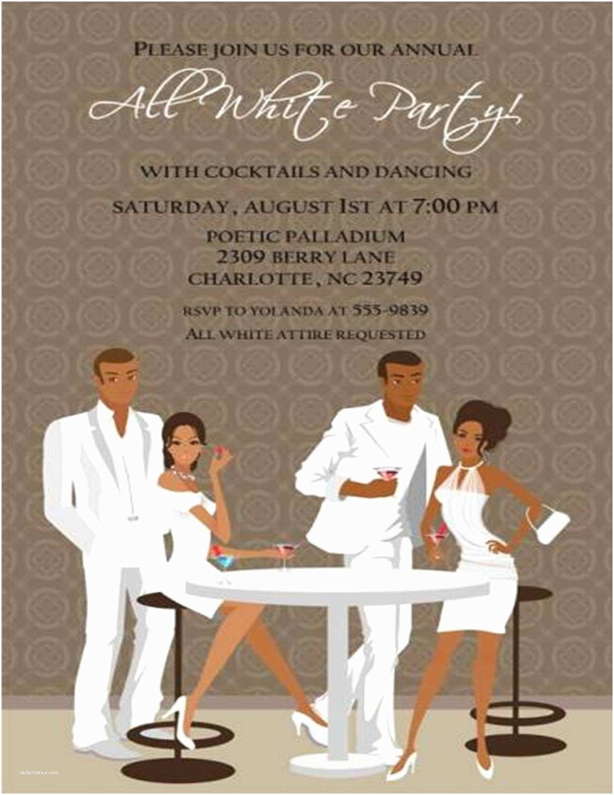All White Party Invitations Felicia S event Design and Planning Consumer Testimony