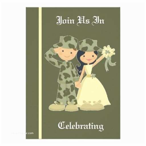 military and patriotic themed wedding invitations