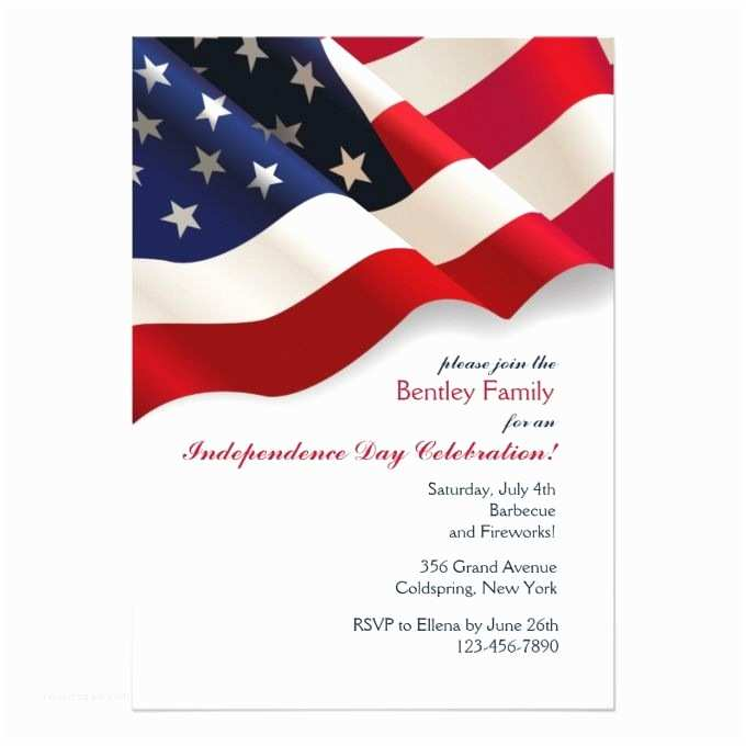 American Flag Wedding Invitations 17 Best Images About Patriotic Invitations On Pinterest