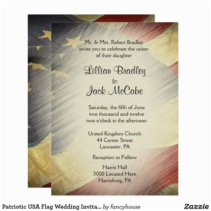 American Flag Wedding Invitations 208 Best Military July 4th Wedding Images On Pinterest