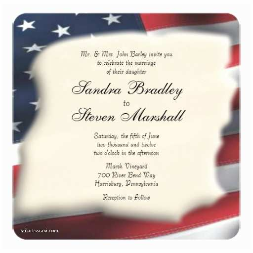 American Flag Wedding Invitations American Flag Wedding Invitations