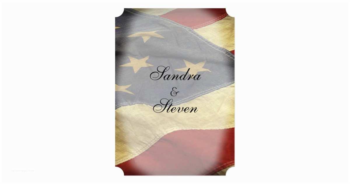 American Flag Wedding Invitations American Flag Wedding Invitations