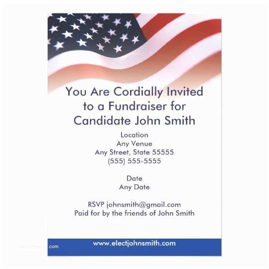 American Flag Wedding Invitations Flag Political Invitation