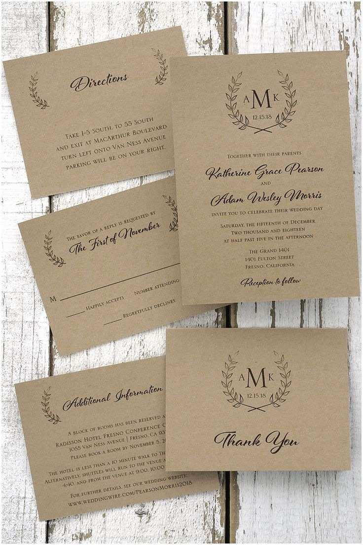 American Stationery Wedding Invitations Laurel Wedding Invitations the American Wedding