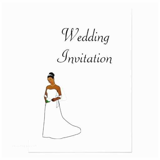 American Wedding Invitations African American Wedding Invitation with Bride