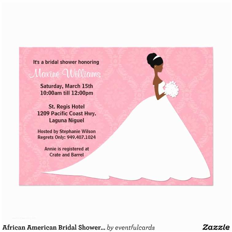 American Wedding Invitations African American Wedding Shower Invitations Announcements