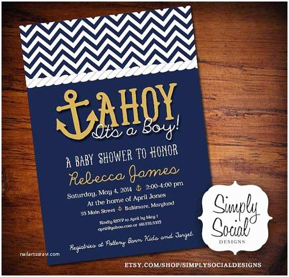Anchor Baby Shower Invitations Ahoy It S A Boy Baby Shower Invitation Printable Nautical