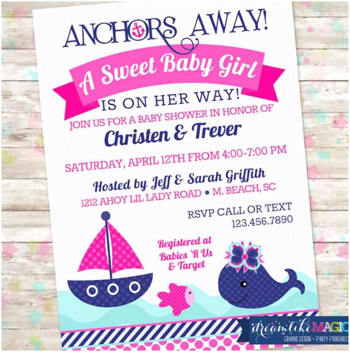 Anchor Baby Shower Invitations Nautical Baby Shower Food Ideas