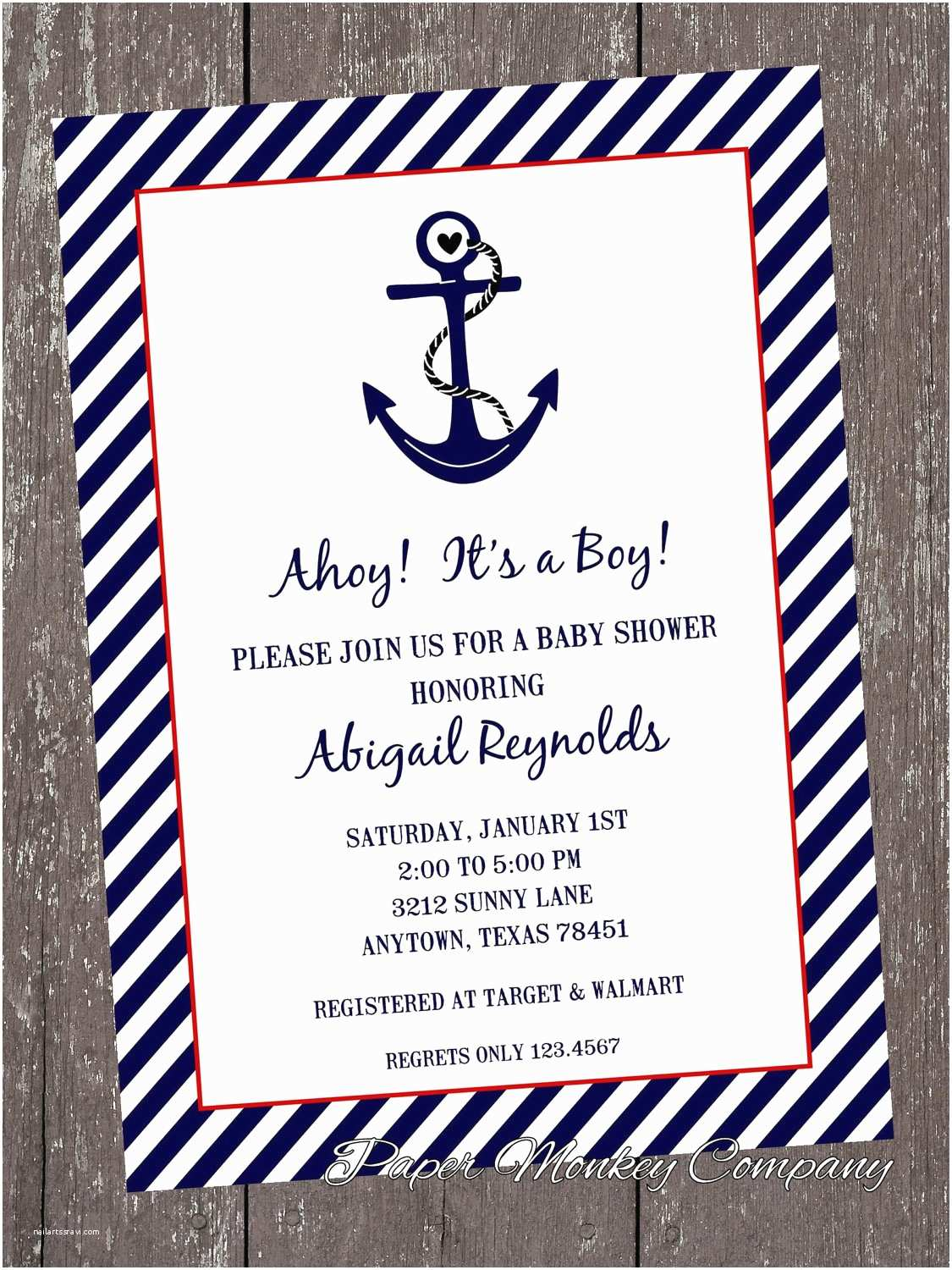 Anchor Baby Shower Invitations Nautical Baby Shower Invitations 1 00 Each with by