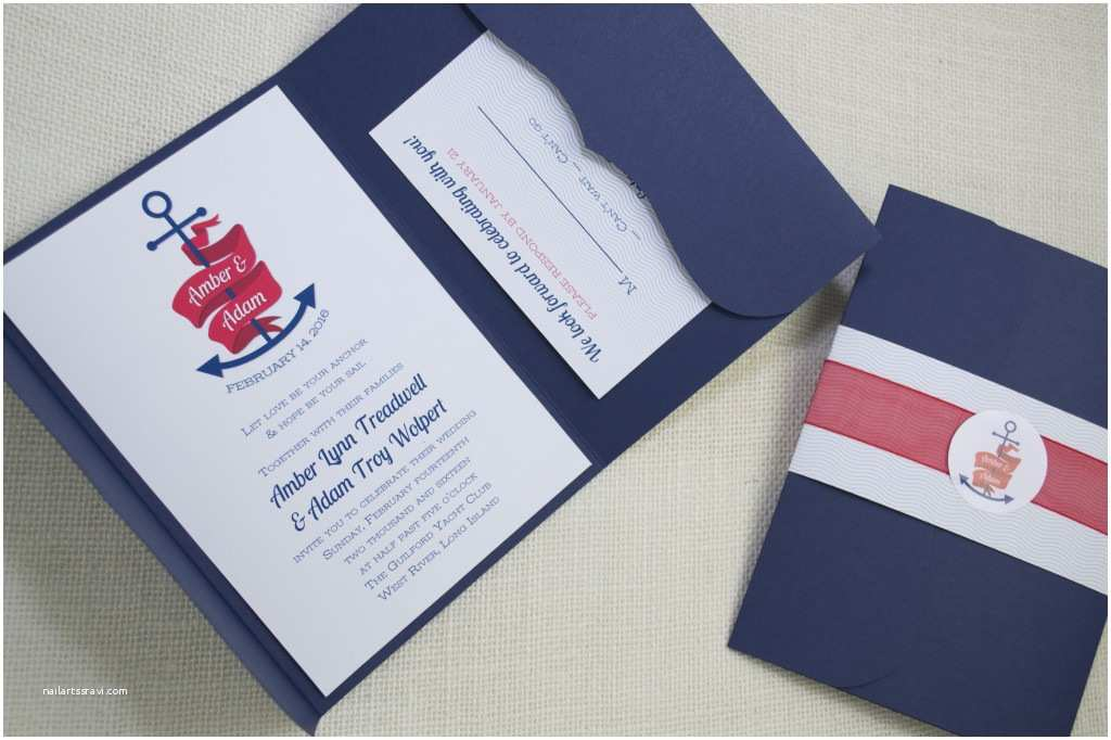 Anchor Wedding Invitations Marvelous Anchor Wedding Invitations