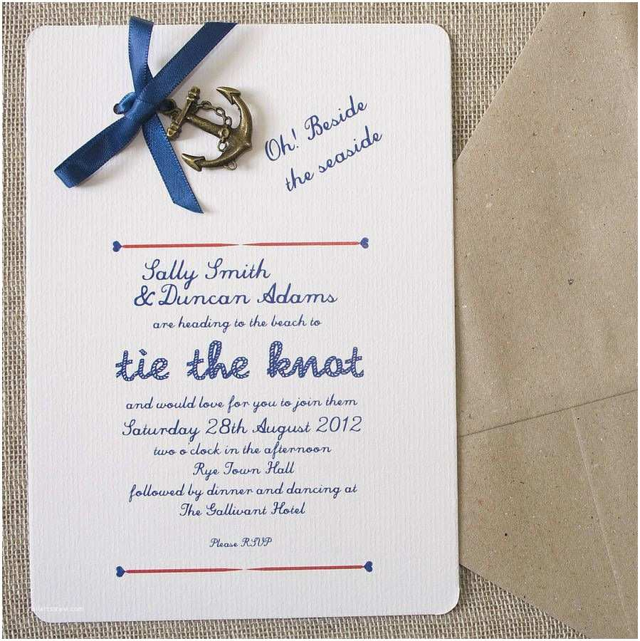 Anchor Wedding Invitations Nautical Diy Wedding Invitation Pack