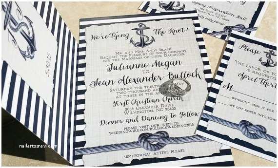 Anchor Wedding Invitations New Nautical Wedding Invitations Heart Knot and Anchor