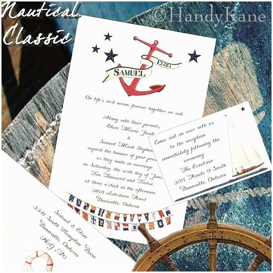 Anchor Wedding Invitations Qty 50 Nautical themed Wedding Invitations Party Invites