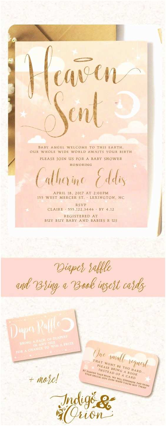 Angel Baby Shower Invitations 54 Best Images About Heaven Sent Baby Shower On Pinterest