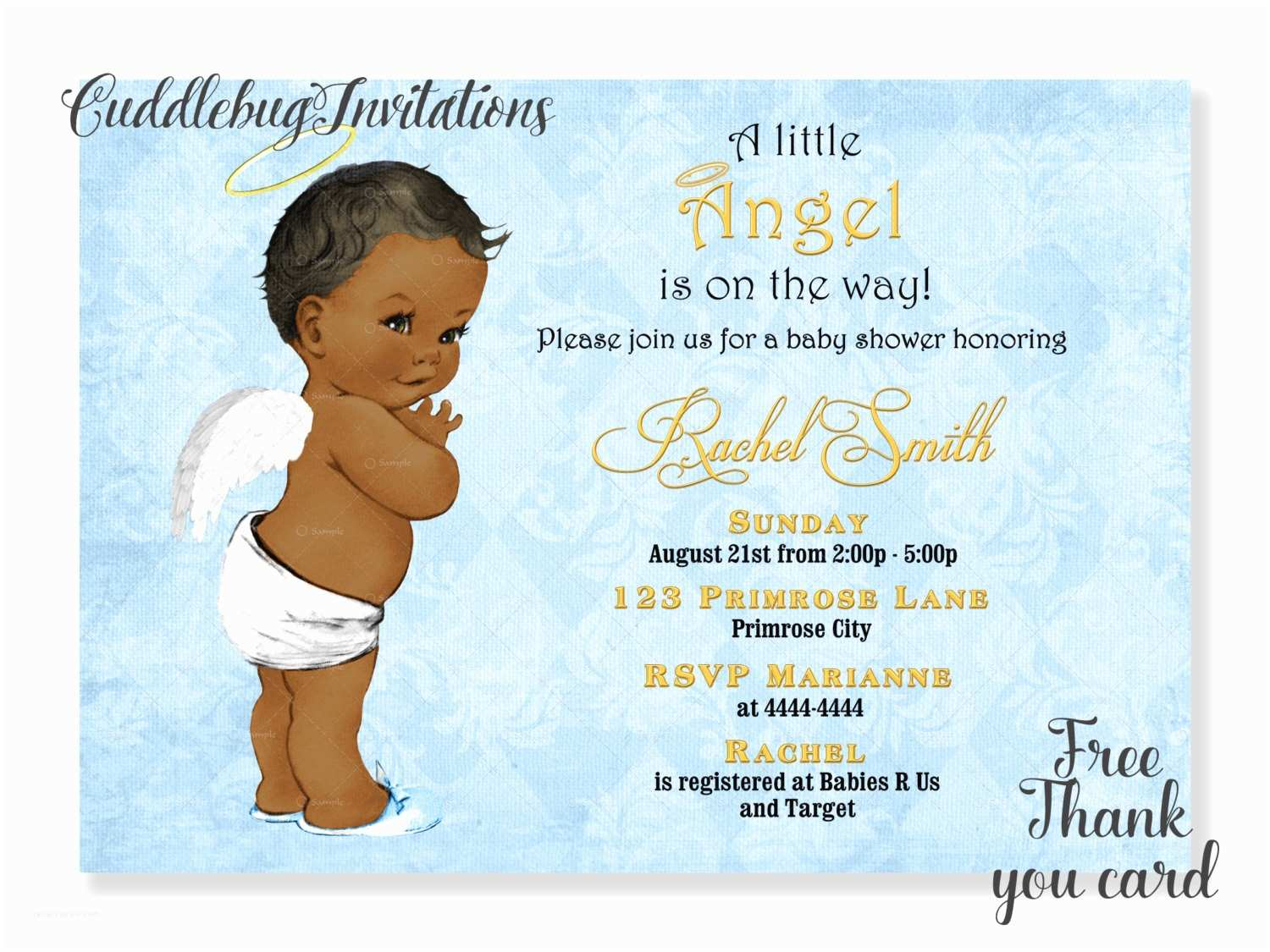 Baby Shower Invitations African American Boy Baby Shower Invitation Little