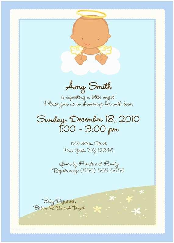 Angel Baby Shower Invitations Angel Baby Shower Invitations –