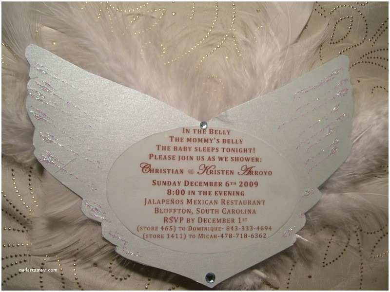 Angel Baby Shower Invitations Angel Baby Shower Invitations Party