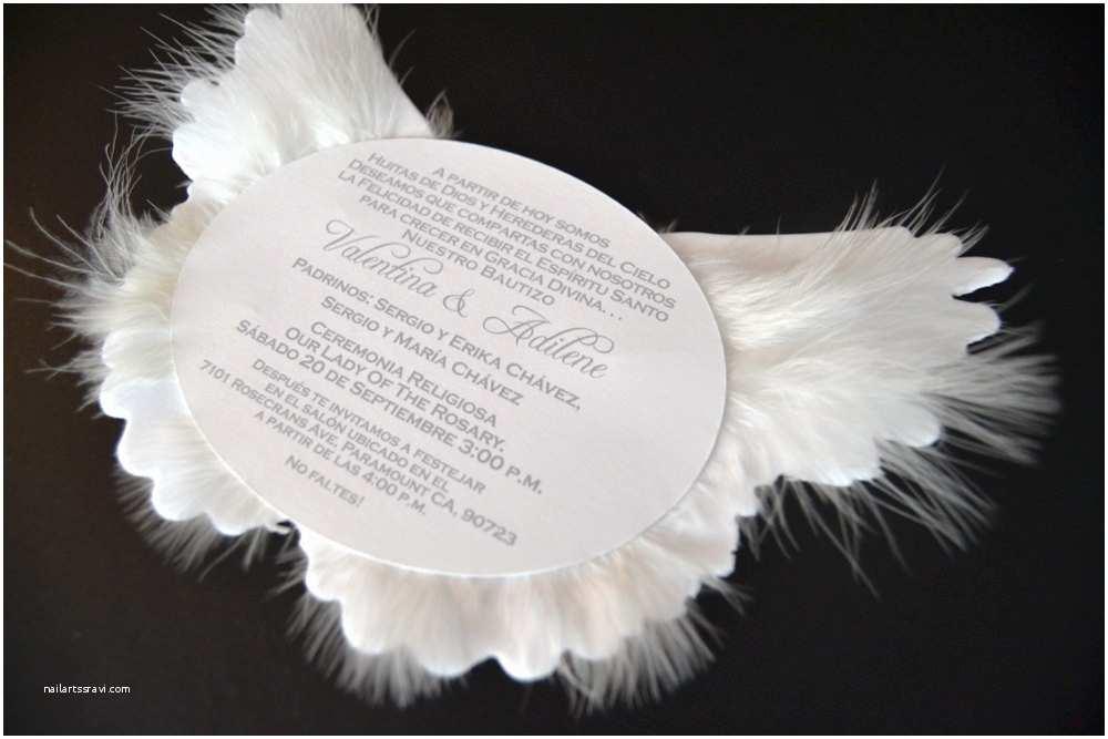 Angel Baby Shower Invitations Angel Wing Invitation Angel Baby Shower Invite Heaven