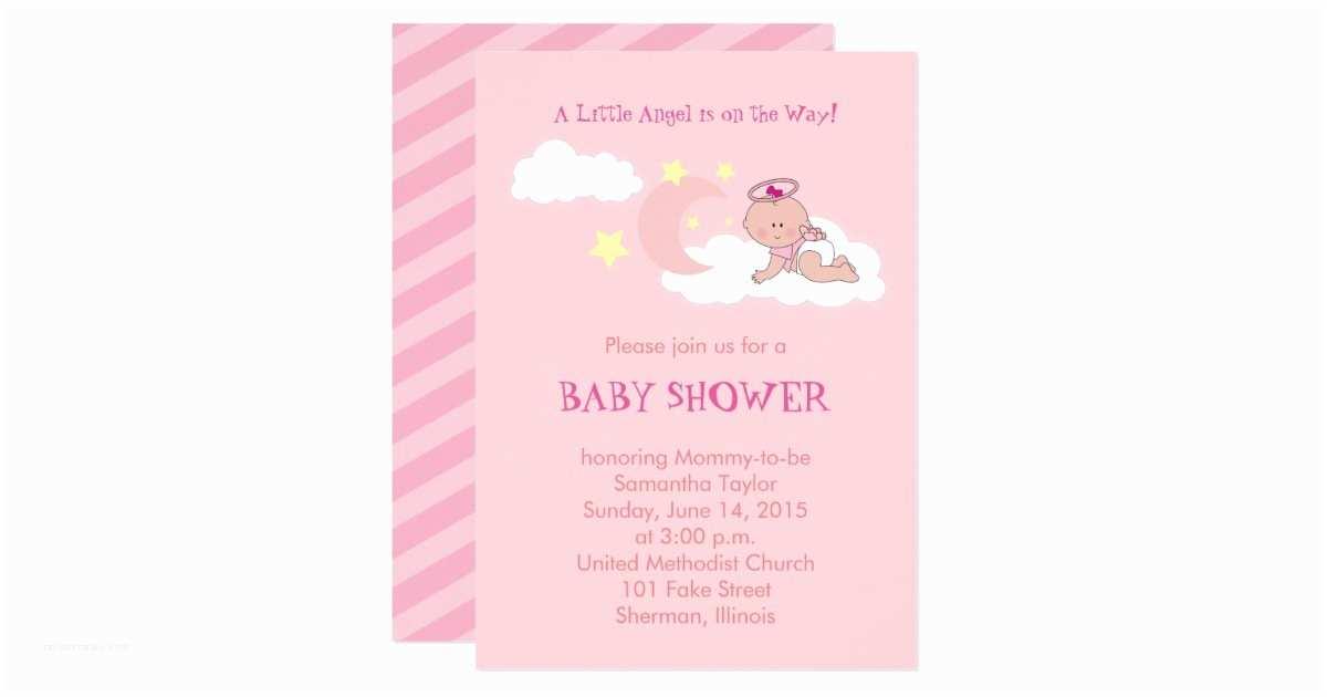 Angel Baby Shower Invitations Little Angel Baby Shower Invitation