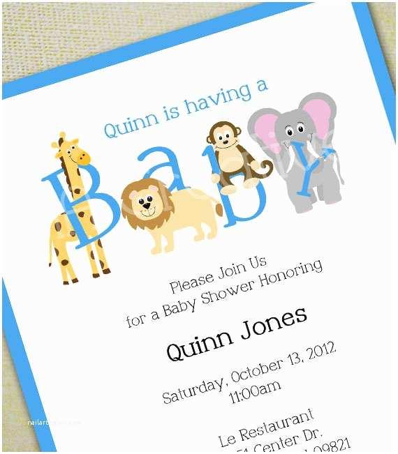 Animal Baby Shower Invitations Animal Baby Shower Invitation Personalized Diy Printable