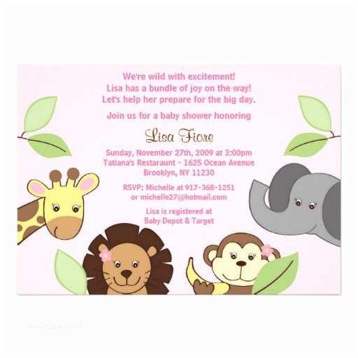 Animal Baby Shower Invitations Baby Shower Invitation